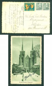 Denmark. Christmas Card 1936. Roskilde With Seal + 2 x 5 Ore. Lille Skensved