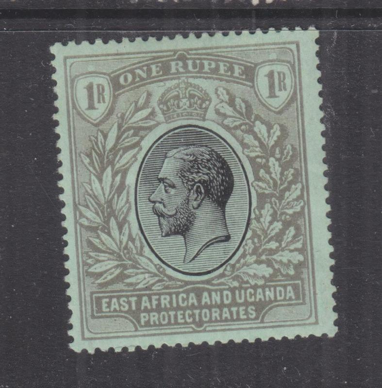 KENYA & UGANDA, 1912 KGV 1r. Black on Green, lhm.