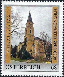 PM Österreich, Philatelietag Linz Kleinmünchen, Kirche, Nr. 8125114 **