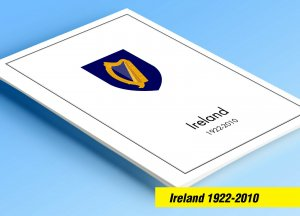 COLOR PRINTED IRELAND 1922-2010 STAMP ALBUM PAGES (276 illustrated pages)