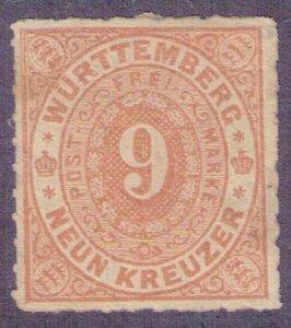 Württemberg 1873 - Wurttemberg 9 kr. Michel 40b Mint ,No Gum Very Fine