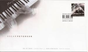 2005 Canada FDC Sc 2118 - Oscar Peterson