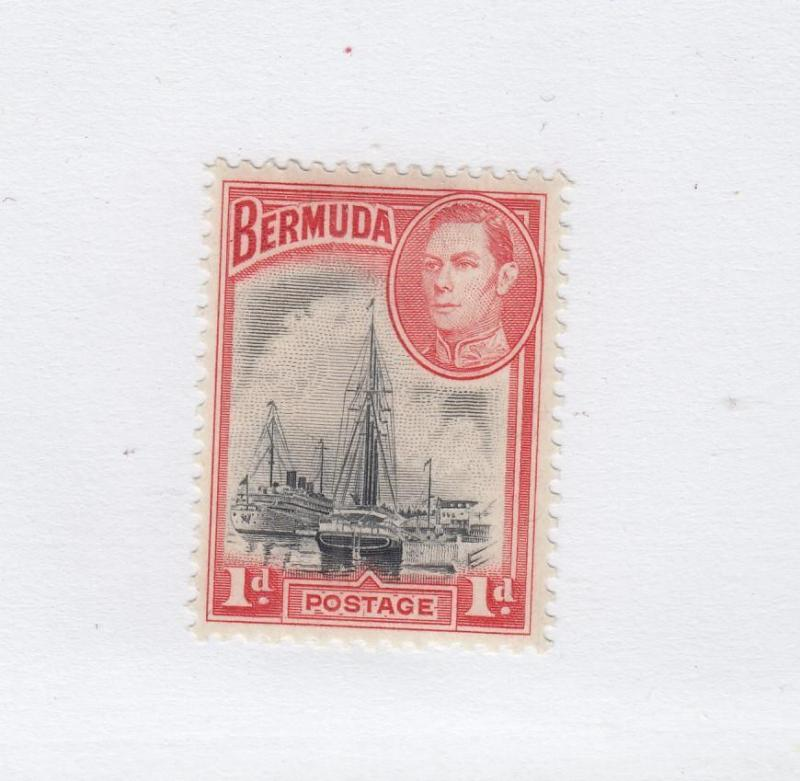 BERMUDA (MK2362)  #118a  VF-MH  1d  ST. DAVID'S LIGHTHOUSE ROSE/RED CAT VAL $12