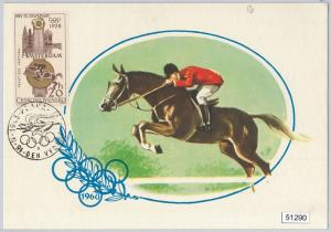 51290 Czechoslovakia - MAXIMUM CARD - 1964 OLYMPIC GAMES in TOKYO: Horse Ridding