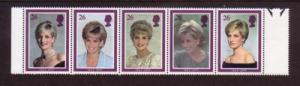 Great Britain Sc 1791-5 1998  Diana Memorial stamps mint NH