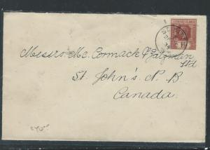 LEEWARD ISLANDS (P0912B) KGV 1 1/2D FROM ST KITTS TO CANADA  1934