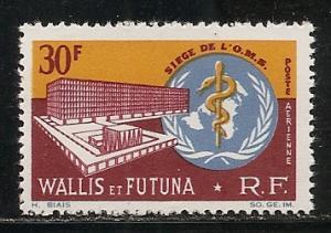 Wallis and Futuna Islands C25 1966 WHO Headquarters single MNH