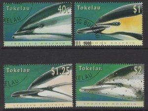 TOKELAU ISLANDS SG246/9 1996 DOLPHINS FINE USED