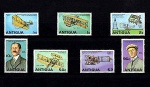 ANTIGUA - 1978 - WRIGHT BROTHERS - AIRCRAFT - FLYER - GLIDER ++ MINT - MNH SET!