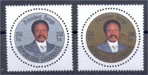GABON 1985,  SET ROUND STAMPS, NEVER HINGED **