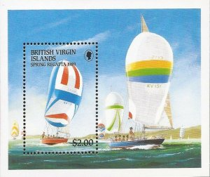 Virgin Islands - 1989 Spring Regatta Yachts - Souvenir Sheet - Scott #635