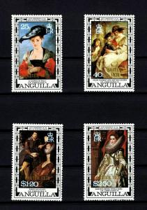 ANGUILLA - 1978 - RUBENS PAINTINGS - EASTER OVPT - 4 X MINT - MNH SET!
