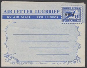 SOUTH WEST AFRICA  SWA opt on 6d aerogramme fine unused.....................T455