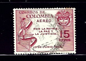 Colombia C255 Used 1954 issue