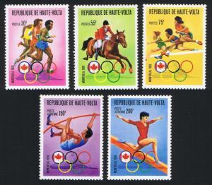 Upper Volta Summer Olympic Games Montreal 5v SC#380-382+C231-32