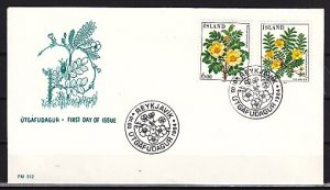 Iceland, Scott cat. 582-583. Religious Christmas issue. First day cover. ^