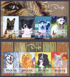 Saint Vincent and the Grenadines. 2014. dogs. MNH.