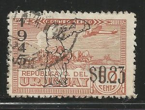 URUGUAY  C118  USED,  VICTORY OF THE ALLIED NATIONS IN WWII