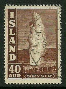 Iceland #206 Used Stamp - Geyser (b)