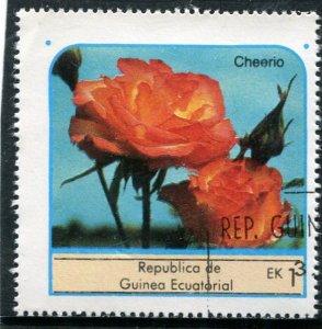 Equatorial Guinea 1976 ROSES CHEERIO 1 value Perforated Fine Used