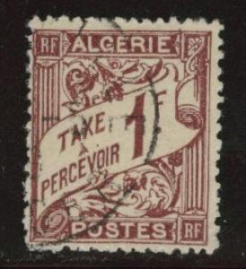 ALGERIA Scott J9 used postage due 1926