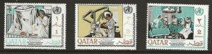 Qatar  (1968)  - Scott # 134 - 136,  MNH