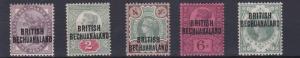 BECHUANALAND  1891   S G  33 - 37     SET OF 5     MH