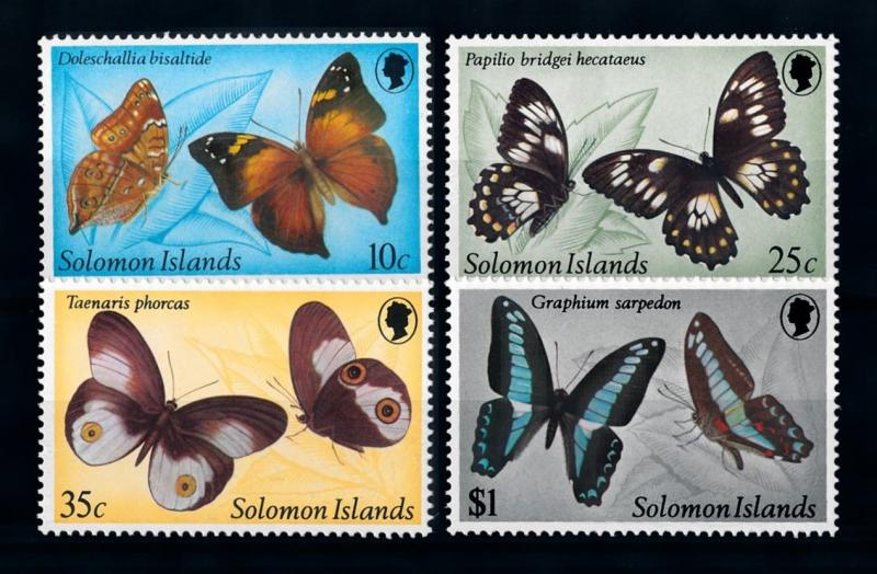 [70350] Solomon Islands 1982 Insects Butterflies  MNH