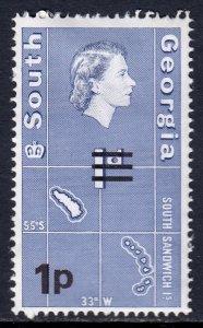 South Georgia - Scott #18v - Inverted watermark - MH