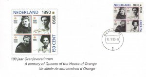1990, Netherland: Queens of House of Orange, FDC (D13143)