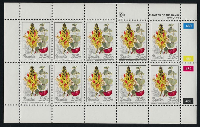 Namibia 762-5 Sheets MNH Flowers