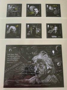 JE26) Jersey 2016 Einstein Theory set of 6 & M/S MUH