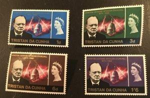 Tristan Da Cunha Scott 89-92 QEII Churchill Memorial-Mint NH