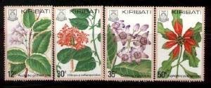 4 Different Local Flowers, Kiribati SC#365-8 MNH set