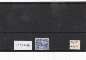 iceland sg 197 used  stamp Ref 9298