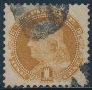 #112 VF-XF USED BLACK CNL PERFECT CENTERING W/ PSE CERT -- SHOWPIECE -- BU3687