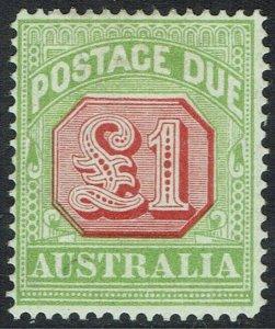AUSTRALIA 1913 POSTAGE DUE 1 POUND PERF 14