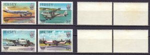 Jersey. 1984. 334-39. Aviation. MNH.