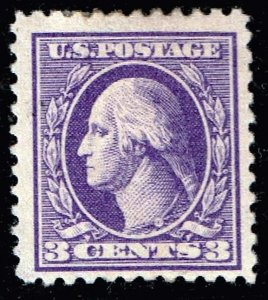US STAMP #530 – 1918 3c Washington, perf 11, type IV MHR/OG