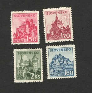 Germany Occ Slovakia-MNH SET-Castles and fortresses-1941.