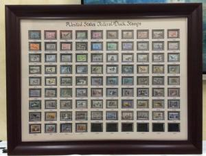 RW1-RW84(1934-2017) Federal Duck Stamp Collection-Unsigned as Shown-With Frame