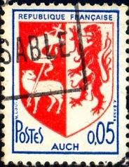 Arms of Paris, France stamp SC#1095 used