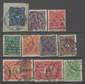 COLLECTION LOT # 4300 GERMANY 10 STAMPS 1922+ CV+$23