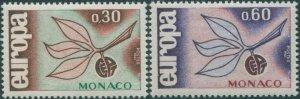 Monaco 1965 SG831-832 Europa sprig set MNH