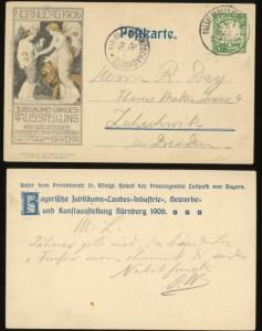 1906 Nuremberg Commercial Industrial Art Exhibition Postcard Postal Stationery