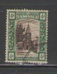 Jamaica Sc 81 1921 4 d Cathedral stamp used