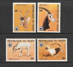 NIGER #688-91  ORYX  WWF  MNH