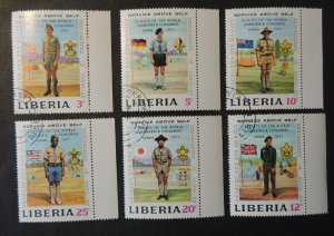 Liberia 1972 scouts children flags used