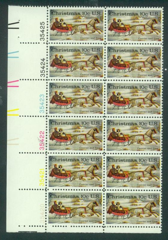 U.S. Scott 1551 VF MNH Plate Block of 12