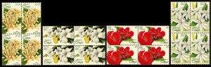 Tonga 1999 Fragrant Flowers Sg1458/Sg1461 2x2 Blocks MNH